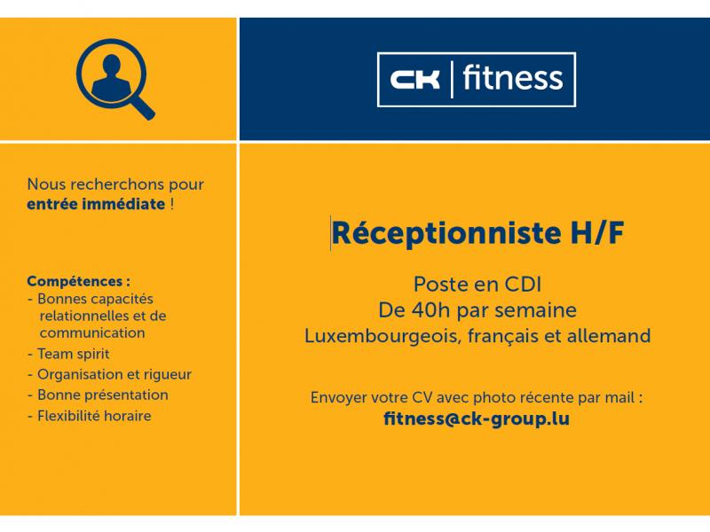 Jobs : 1 RÉCEPTIONNISTE QUADRILINGUE H/F